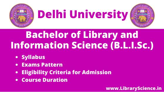 BLIS Course from Delhi University