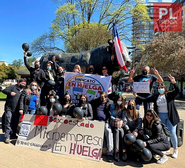 Huelga de trabajadores de BancoEstado Microempresa (BEME)