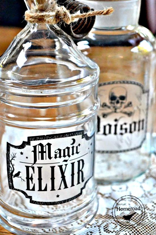 Elixir Bottles for Halloween
