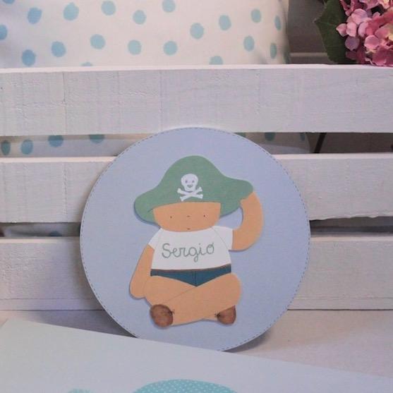 placas para puerta infantiles personalizadas-piratas