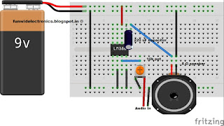 fritzing circuit diagram audio amplifier