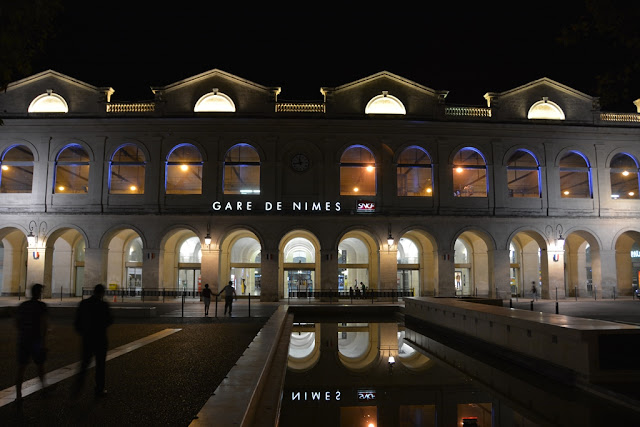 Nimes station by night