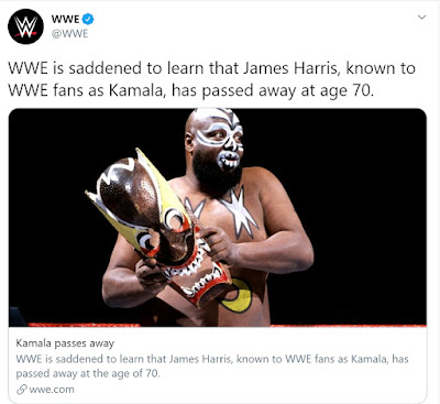 WWE Tweets About The Passing of Kamala