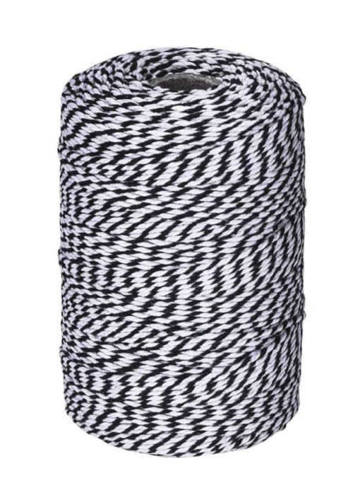 Amazon favorite products - black and white bakers twine.