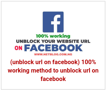 unblock url on facebook - 100% working method to unblock url on facebook