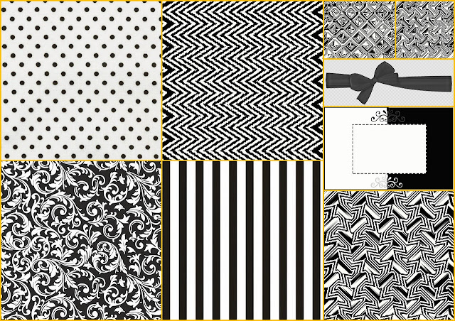 Black and White: Free Printable Papers
