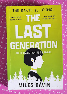 The Last Generation by Miles Bavin Young Fiction Book cover features a teenage girl in side profile
