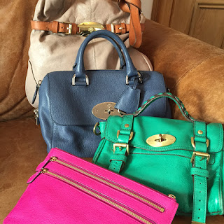 Mulberry Beatrice, Small Del Rey, Mini Alexa and Multizip Pouch