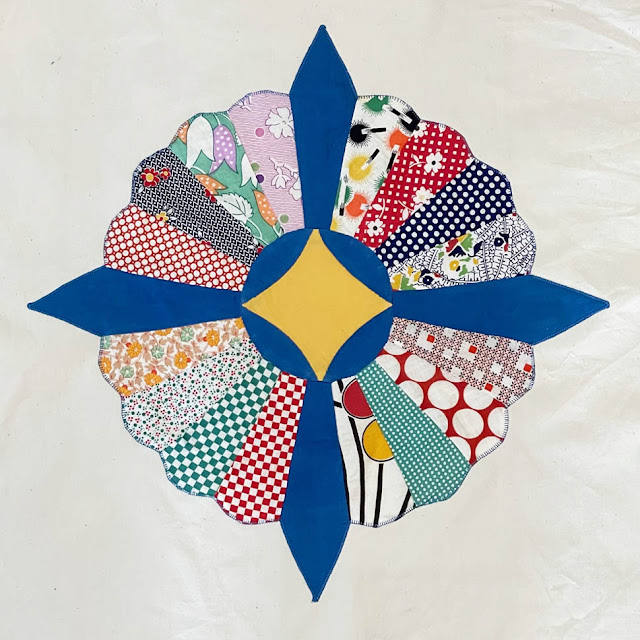 Vintage Dresden Plate Quilt Project by Thistle Thicket Studio. www.thistlethicketstudio.com