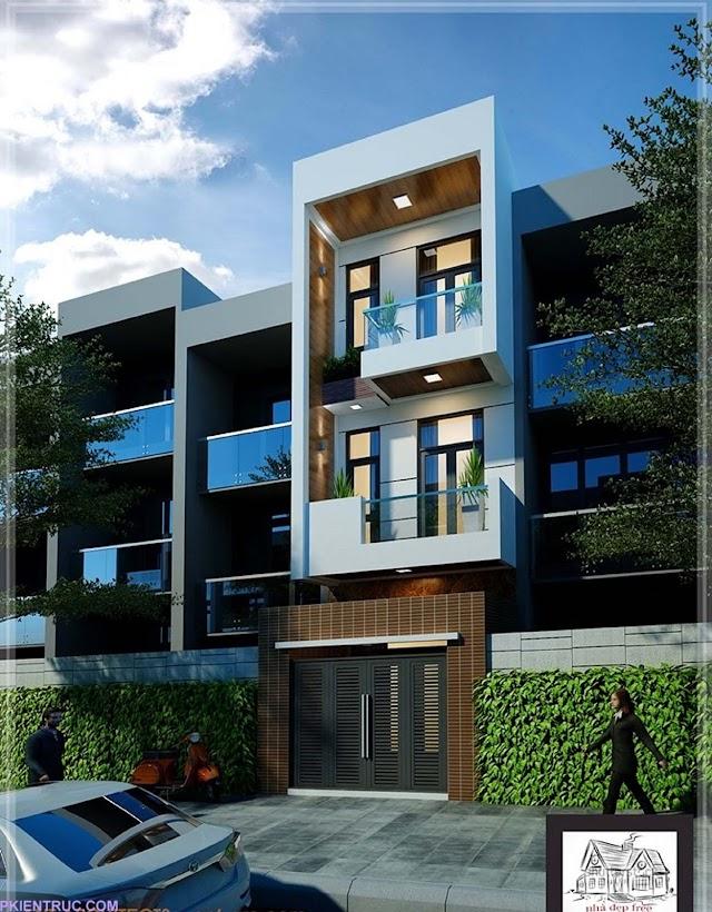 Bản vẻ Cad nhà phố 4 x 9,5 mét hiện đại mới nhất