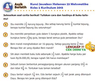 Kunci Jawaban Halaman 23 Matematika Kelas 5 Kurikulum 2013 www.simplenews.me
