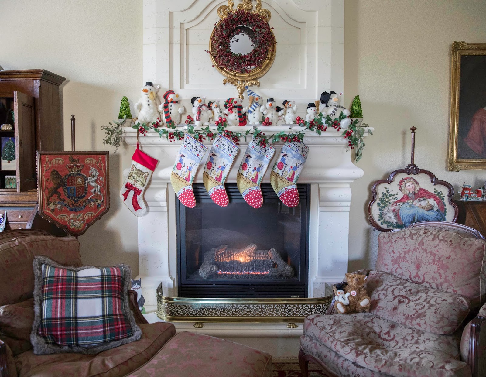 Christmas house tour with French and German decorating