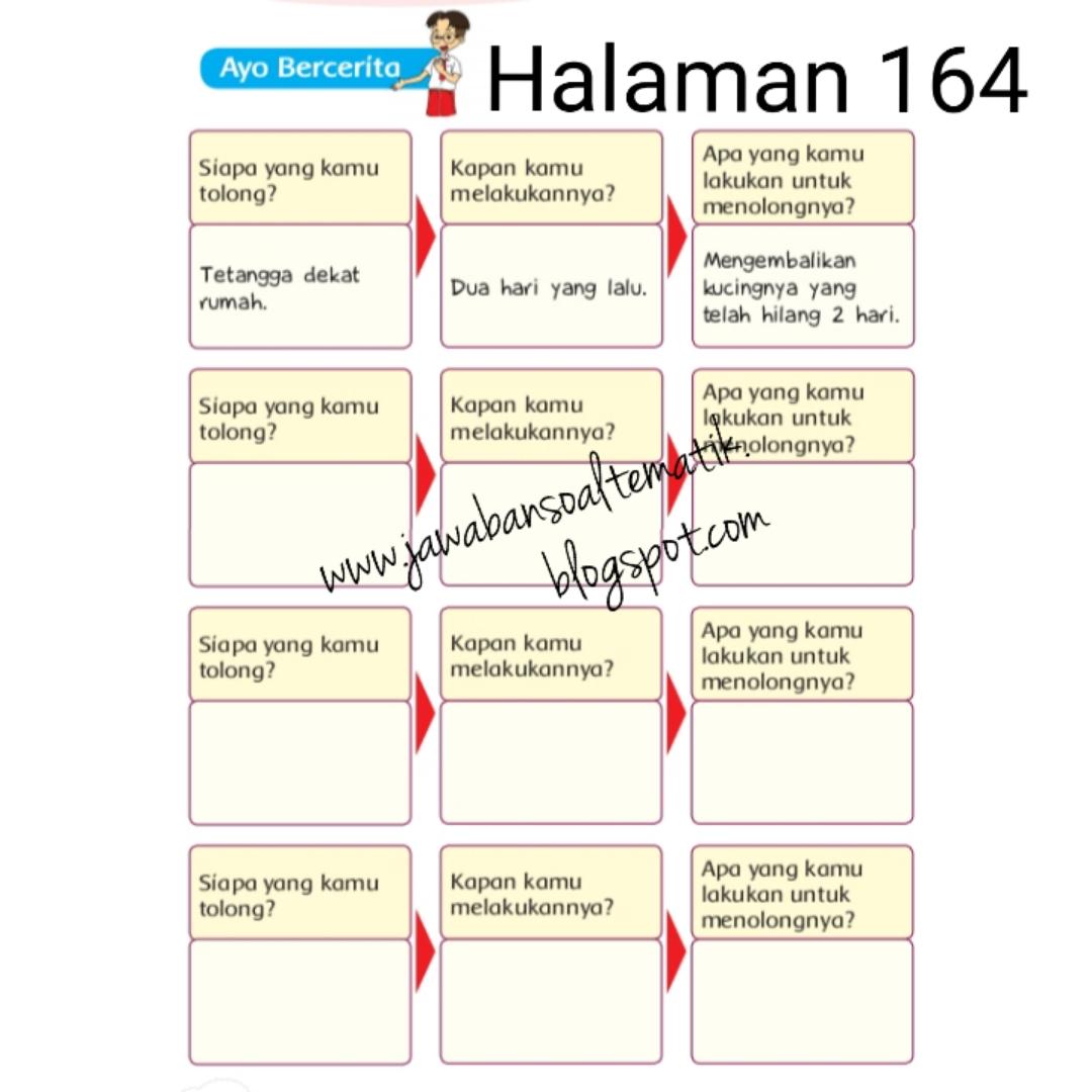 Kunci Jawaban Buku Siswa Kelas 3 Tema 5 Halaman 165 166 168 170