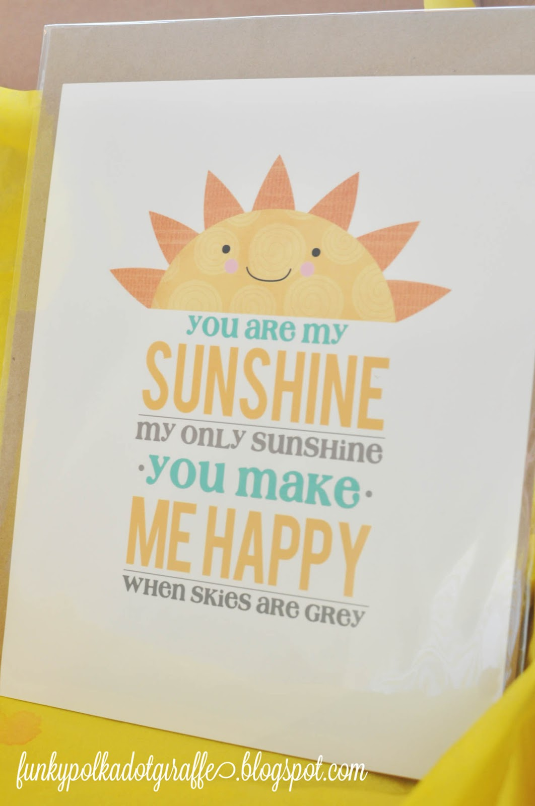 You Are My Sunshine Baby Shower Decorations
