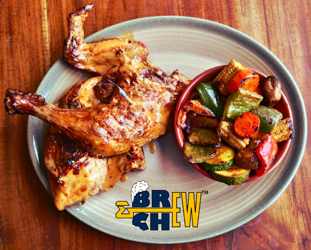 Nando's Peri-Peri flame-grilled chicken restaurant Review | Chicken frilled Leg and vegetables