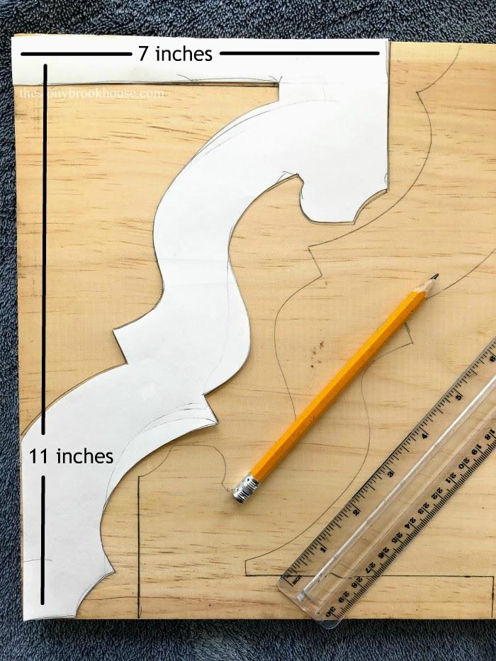 Drawing corbel pattern