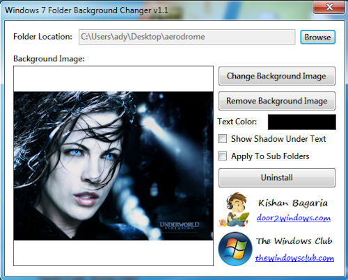 Windows 7 folder background changer 1 1 download - Windows 7 wallpaper changer software ...