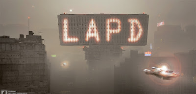 LAPD Neon sign in smog