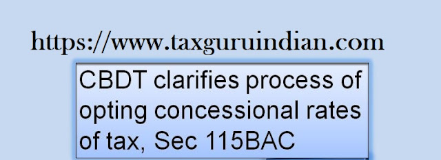 New Income Tax Section 115BAC