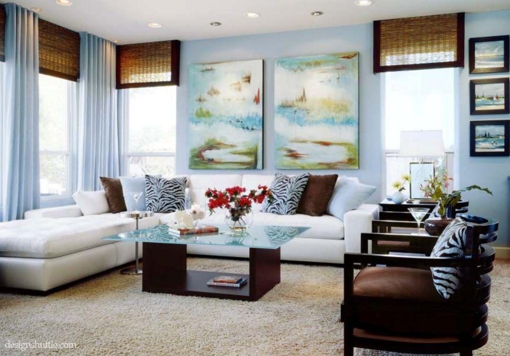 gabungan warna cat interior ruang keluarga idaman