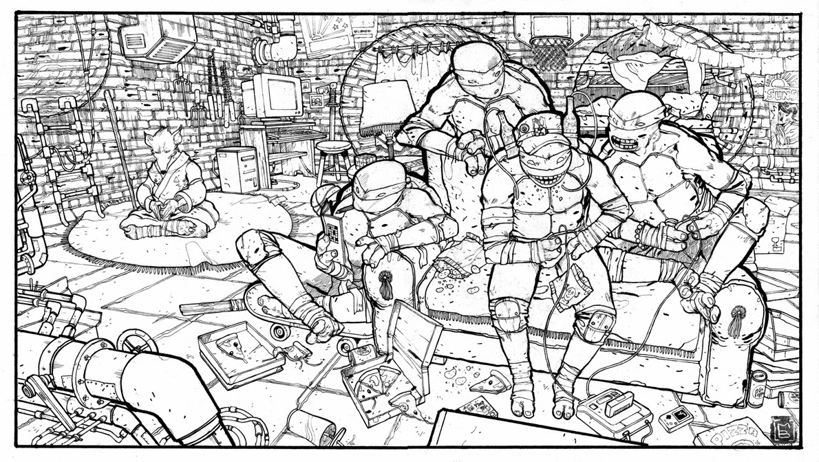 La cinquieme dimension tmnt - Coloriages tortues ninja a imprimer ...