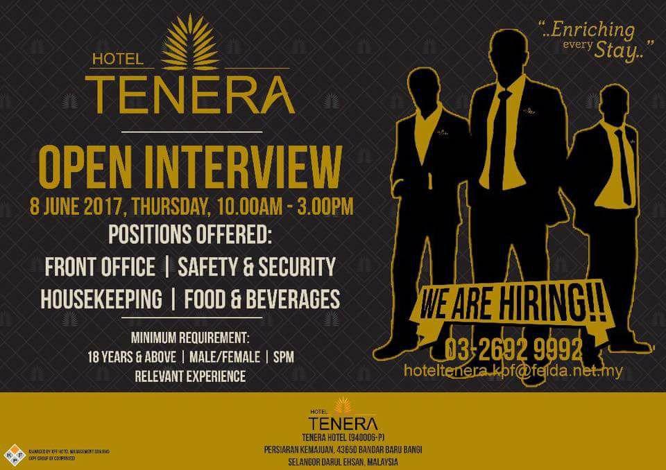 Tawaran Kerja Di Hotel Tenera