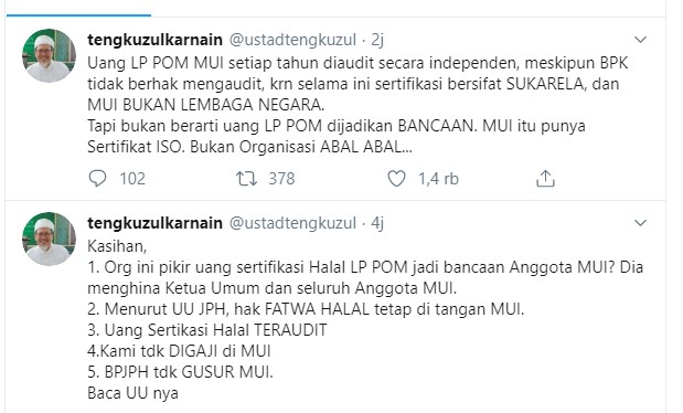 Abu Janda vs Ustadz tengku