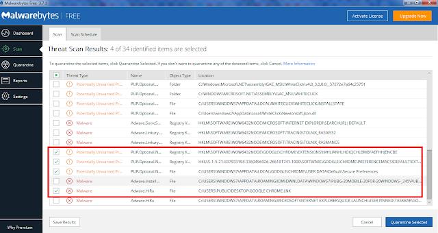 Cara Menghapus Virus WWW1 ecleneue com dari Google Chrome dengan Antivirus Gratis