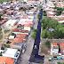 Obra de asfaltamento do centro comercial do Bravo de Serra Preta é iniciada.