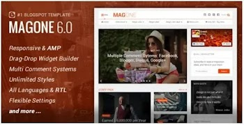[Free Download] MagOne v6.9.41 Original Blogger Template