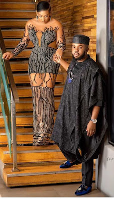Williams Uchemba and wife
