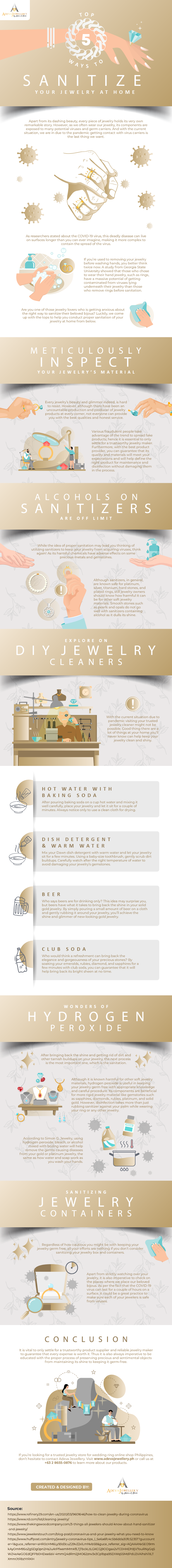 Top 5 Ways to Sanitize Your Jewelry at Home #infographic #Jewelry #Sanitize Your Jewelry #Pandemic