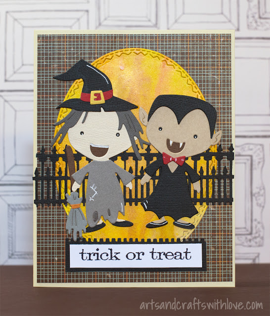 Halloween card with Sizzix Big Shot