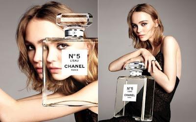Lily-Rose Depp in Chanel's No. 5 L'Eau campaign. Photo: Karim Sadli