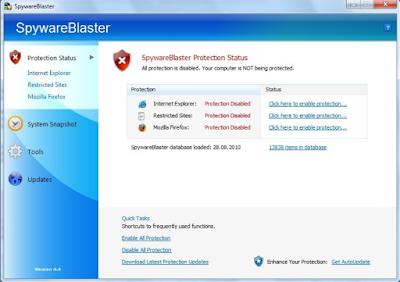 تحميل برنامج spywareblaster لمسح ملفات التجسس