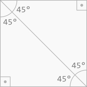 Quadrado decomposto em triângulos retângulos isósceles