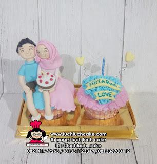 Cupcake Anniversary isi 2 Fondant 3D