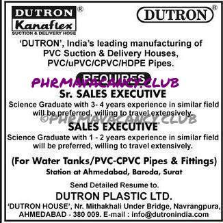 DUTRON Required Sr sales executive & sales executive .