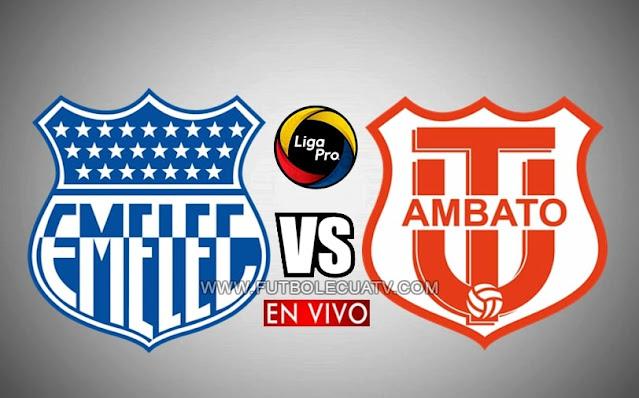 Emelec recibe a Técnico Universitario en vivo a partir de las 16h45 hora local, por la jornada siete del campeonato ecuatoriano, a emitirse por GolTV Ecuador efectuándose en el estadio George Capwell. Con arbitraje principal de Mario Romero.