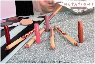 recensione LipPencil - biopastello Labbra -  Collezione Mutations - Neve cosmetics
