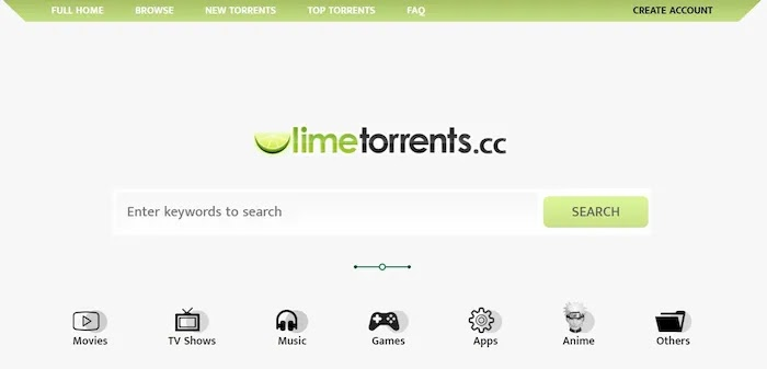 Popular and Active Torrent Download Sites LimeTorrents