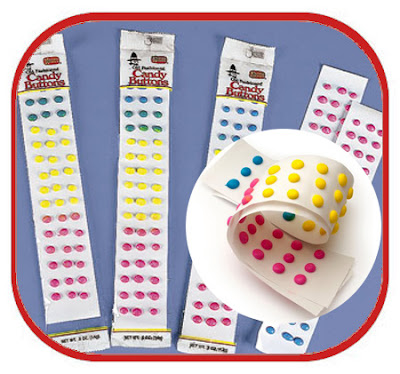 Candy Buttons... you ate as much paper as you did candy... LoL  Loved these things!!