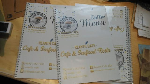 Buku Daftar Menu Cafe