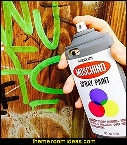 moschino Graffiti Spray Paint Bottle Soft Silicone Case Cover for iPhone