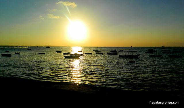 Pôr do sol na Praia do Bogari, Salvador