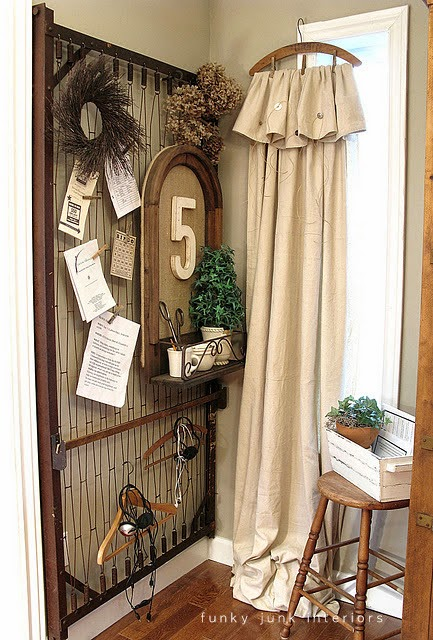 vintage hanger curtain rod