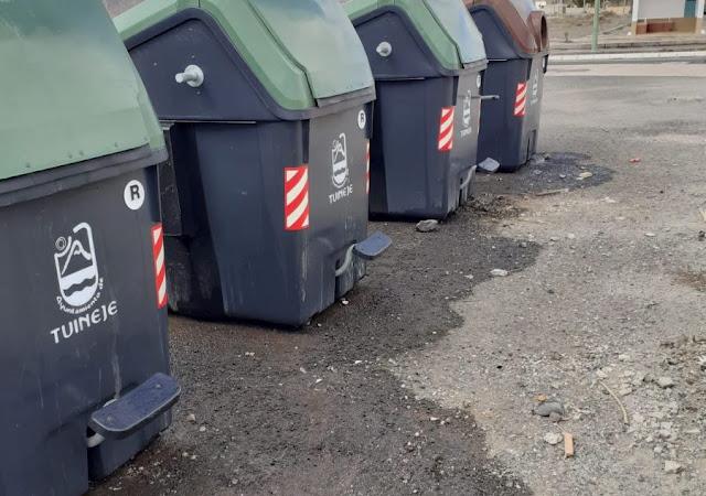Contenedores%2Bdesinfectados - Fuerteventura.- Ayuntamiento de Tuineje amplía el horario de depósito de la basura doméstica