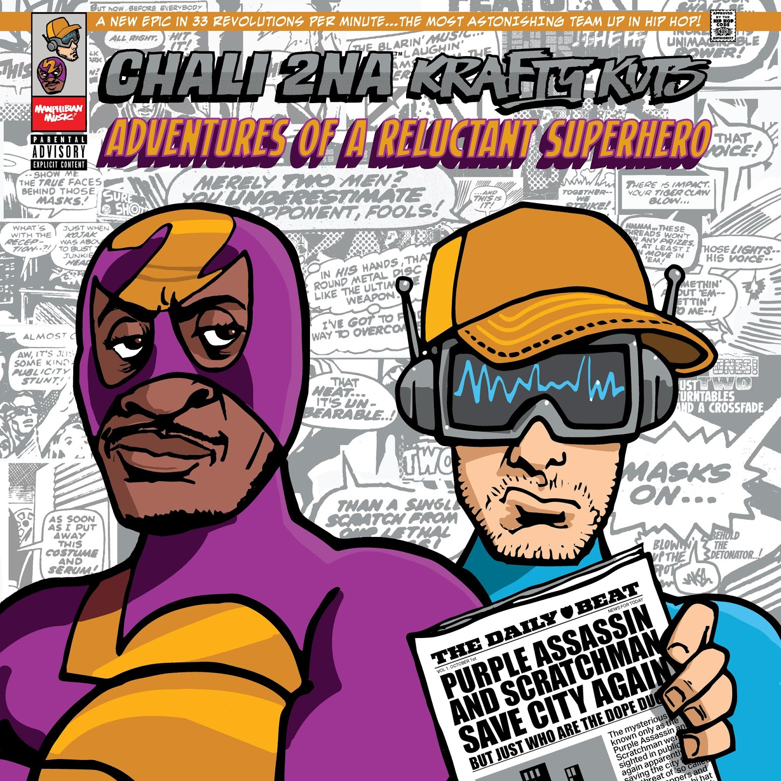 Chali 2na & Krafty Kuts: Adventures Of A Reluctant Superhero | Albumtipp und Full Album Stream