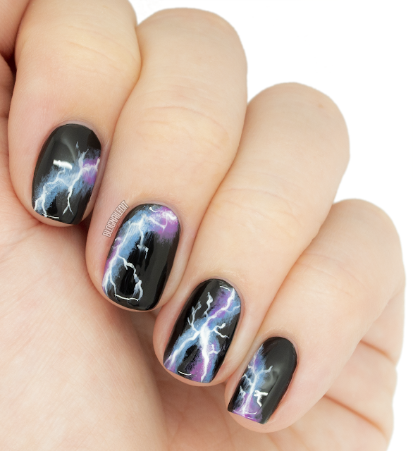 lightning nail art lightning nails