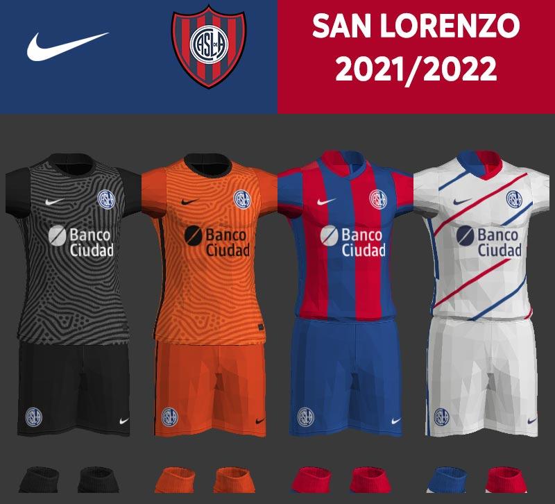 NEW San Lorenzo 2021-2022 Kits For PES 2013